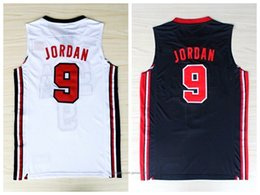 Wholesale game top online – design Movie Version Brand New Dream Team US USA Olympic Games Top Basketball Jerseys Men s Vest Stitched Black White S XL