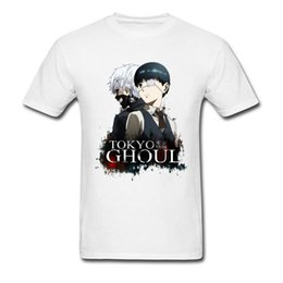 attack titan clothes NZ - Tokyo Ghoul T-shirt Men Attack On Titan Tshirt Japan Anime T Shirt Goth Tops Street Style Gothic Tees Cotton White Clothes Cool
