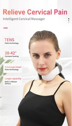 head electric massager UK - 4 Heads Smart Electric Neck and Shoulder Massager Low Frequency Magnetic Therapy Pulse Pain Relief Relaxation Vertebra Physiotherapy