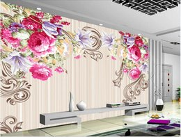 3d rose wall sticker Australia - 3d room wallpaper wall stickers custom photo mural Retro European Rose Flower Wooden Board Simple Background wall art canvas pictures