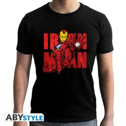marvel iron man t shirt UK - Marvel Iron Man graphic mens medium T shirt black top quality hot sale graphics