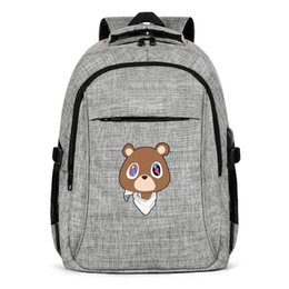 pop sport UK - Kanye West Graduation Teddy Bear Fashion Business Backpack,Design Pop Limited edition Reusable Suitable for Outdoor Traveling Backpack 6