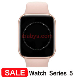 Wholesale waterproof for iphone resale online - W55 Wireless Charging Goophone Watch IP67 Waterproof Smart Watch mm mm Heart Rate Blood Pressure MTK2503AVE for iPhone Pro Max