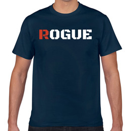 Wholesale rogue t shirt online – design Tops T Shirt Men Rogue With Army Style Print Partiotic Summer Harajuku Geek Cotton Male Tshirt Xxx
