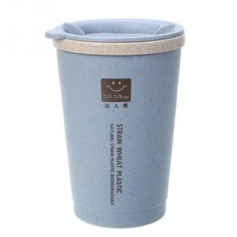 eco fiber UK - 280ML Double-wall Insulation Mug Wheat Fiber Straw Coffee Cup Travel Mug Leakproof Water Cup Office Home Drinkware