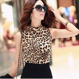 camisole t shirts UK - Summer Women Vest Cotton Sexy Girl Tops Sleeveless T Shirts Cropped Blusas Female Leopard Top Summer Camisole Shirt Really Funny Shirt ygvF#