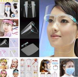 Toptan satış ABD Stok! Şeffaf parti maskesi Yüz kalkanı Emniyet Çocuk Koruyucu Tam Yüz Kapak Film Aracı Anti-sis Premium PET malzeme yetişkin maskesi