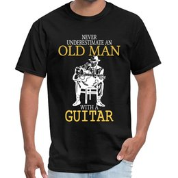guitar tees Canada - Cute Never Underestimate Old Man With Guitar Degree tame impala t shirt male female ricard t shirt big size s~6xL top tee