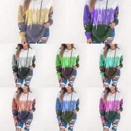 Wholesale winter clothes sale for women online – oversize 2019 Fall Winter New Hoodie sweater Fashion women s clothing hot sale gradient color hooded sweater for women