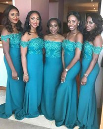 size teal bridesmaid dresses NZ - Teal Tea Length Bridesmaid Dresses Half Sleeve Vintage Lace A-Line 2020 Wedding Guest Mother Party Gowns Wear