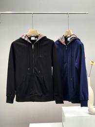 Wholesale cardigan sweater jacket mens online – oversize 20 new arrival mens designer hoodie Sweatshirt Cotton pullover burb Cardigan Hooded Sweatshirt Jacket sweater streetwear winter clothes