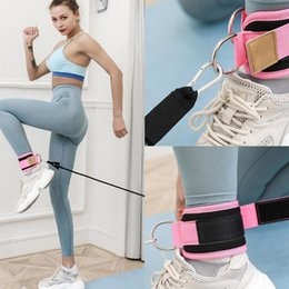 resistance bands exercises for legs 2020 - 1Set Fitness Exercise Resistance Band Ankle Straps Equipment Fitness For Cable Home Training Glute Leg Ab Cuff Machines