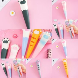 japan stationery wholesalers NZ - v2O3Y Cute stress reliever Gift Office Japan Carrot Gel Pen Cartoons School Bottle KawaiiMilk Creative Novel HandlesKorean Stationery