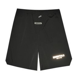 19ss FOG timore di Dio ESSENTIALS Beach Shorts coulisse Shorts Relaxed Homme vestiti 3M Reflective lettere Hip Hop Pallacanestro Sweatpants