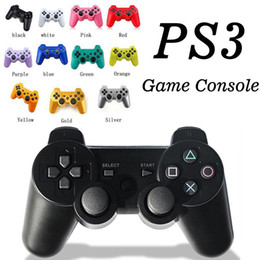 sixaxis wireless controller Canada - cgjxsHot Bluetooth Wireless Controller Game Controller Joysticks For Ps3 Available Real Sixaxis No Retail Box Dhl Free Shipping