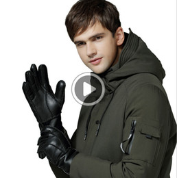 fashion warm mittens UK - Fashion-Free Shipping -High Qlity Men \'S Leather Gloves Warm Gloves Men \'S Wool Gloves Qlity Assuran