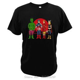 marvel iron man t shirt UK - Marvel Comics T Shirt Bruce Banner Captain America Iron Man Thor Super Hero Tshirt King Of The Hill Tv Show Mashup Tees Tops