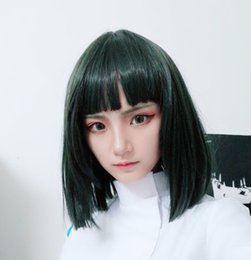 spirits costumes NZ - Spirited Away Haku Nigihayami Kohakunushi Green Algae Color Heat Resistent Synthetic Hair Cosplay Wigs + Wig Cap