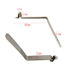 50 Pieces Single Button Spring Clip 3-15mm Kayak Paddle Tent Pole Clips Awning Telescopic Tube Camping & Caravan & Chair Lock on Sale