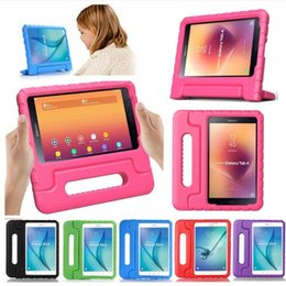 eva case for ipad Australia - cgjxs For Samsung T530 T560 Ipad 2 3 4 Lg -V495 Shockproof Eva Foam Soft Tablet Case Children Kids Handle Stand Protective Tablet Cover