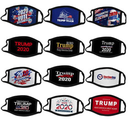 Großhandel US-Aktien 2020 Election Trump Kampagne Designer Gesichtsmaske Wiederverwendbare Black Face Masken Trump Drucken Schutz Anti-Staub-Mund-Abdeckung