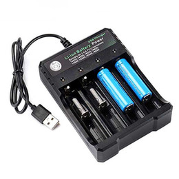 Wholesale USB 18650 Battery Charger 1 2 3 4 Slots AC 110V 220V Dual For 18650 Charging 3.7V Rechargeable Lithium Battery