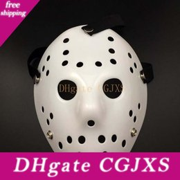 Wholesale movie costumes women for sale – halloween 2017 Halloween White Porous Men Mask Freddy Horror Movie Hockey Scary Masks For Party Women Masquerade Costumes Mask