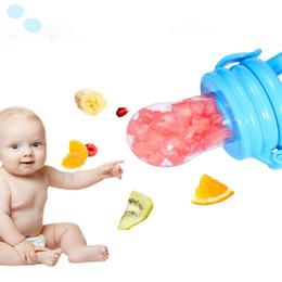 Ingrosso Baby Food Feeder Feeder Frutta ciuccio Infante dentizione giocattolo Teether del commestibile del silicone sacchetti per i bambini e ragazzi del DHL Freight