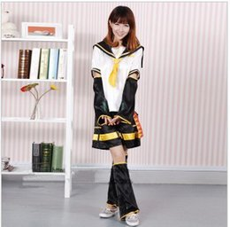 vocaloid christmas cosplay Australia - Anime VOCALOID Kagamine Len Rin Cosplay Costume Halloween Costume Mirror Dicotyledons Cosplay Christmas Full Set