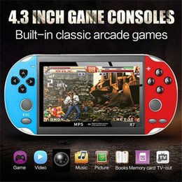 video game console display UK - X7 Video Game Player 4.3 Inch For GBA Handheld Game Console Retro Games LCD Display Game Player For Children Free DHL MQ50 2uwI#