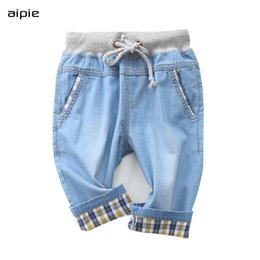Wholesale thin denim fabric resale online – designer New Boy s Shorts Casual Fashion Solid color Cotton Thin denim fabric Children shorts Clothing for Years LJ200815