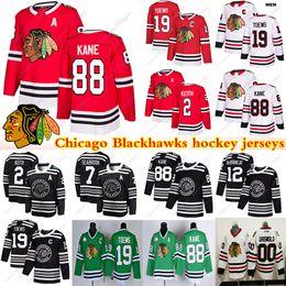 Venta al por mayor de Chicago Blackhawks jerseys 00 Griswold 19 Jonathan Toews 88 Patrick Kane 2 Duncan Keith Clark Griswold Brandon Saad camiseta de hockey