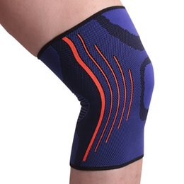 elastic knee sleeve support UK - Fitness Running sports Knee Support Elastic Nylon Sport Compression Knee Pad Sleeve Joint Pain Relief Knitted Brace