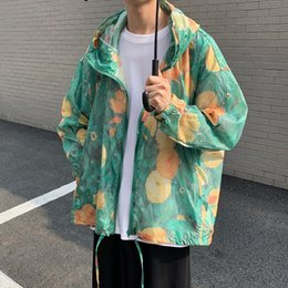 Wholesale summer hoodies for men for sale – custom 2020 Summer new men s loose Daisy sunscreen coat Korean youth trendy hoodie Hoodie jacket jacket for men