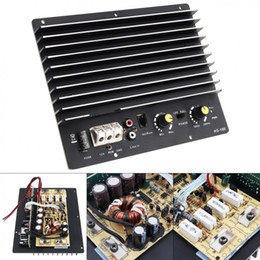 car bass sound UK - Freeshipping 12V 1000w Black Aluminum Alloy Powerful Bass Subwoofer Car Audio High Power Amplifier Board for Car Audio   Low Sound Speakers