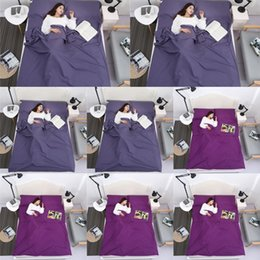 portable single beds NZ - Travel Hotel dirty sleeping bag solid color adult hotel bed sheetSleeping bag sheettravel single and double portable anti-dirty bed sheet jM