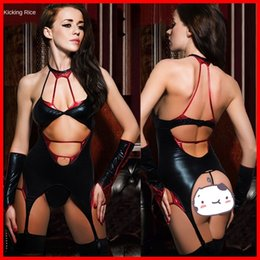 pole dancing clothing NZ - h8y00 Night club DS bar performance clothes clothing Bar one-piece clothing patent leather coated women's pole dance hot dance clothes