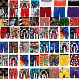 Wholesale boy s underwear resale online - S XXL Mens Boxer Shorts Designers Underwear Long Panties Briefs Cartoon Shark Face Underpants Sports Beach Shorts Bathing Swim Trunks D82502