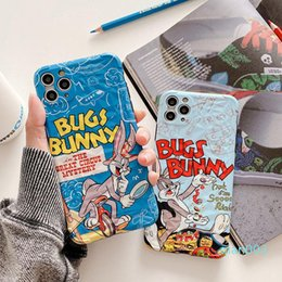 mobile phone cartoon back cover Australia - Funny Cartoon Couple Phone Case for iphone XS Max XR X Case for iphone 11 Pro max 7 8 plus Soft Back Cover Rabbit Mobile Phone Case
