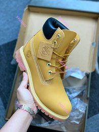 Wholesale womens polka dot tops for sale – plus size Fashion men boots designer mens womens leather shoes top quality Ankle winter boot for cowboy yellow red blue black pink hiking work