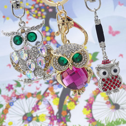crystal owl keyrings Australia - Xdpqq Keychain Owl Keyring Stereo Crystal Jewelry Gift Wallet Car Men and Women Joker Pendant Factory Direct