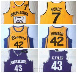 Wholesale free xxl movie online – design Mens LIANZEXIN K Tyler Scott Howard KUKOC Movie Basketball Jerseys All Stitched Embroidery Sewing Size S XXL