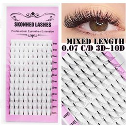 fans 12 2020 - 1 Box 12 Rows 0.07 Thickness Premade Russian Volume Fans Faux Mink Hair Natural Long Semi Permanent False Eyelashes chea