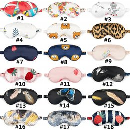 red sleep mask NZ - Print Sleeping Shade Mask Natural Eye Portable Cover Silk Soft Relax Travel Masks Eye Sleep HHA1603 Rfthc