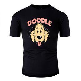 Wholesale golden color shirts men for sale – dress Hip Hop Basic Doodle Dog Goldendoodle Golden Retriever Poodle T Shirt Solid Color Men Tshirt Humorous Interesting Funny