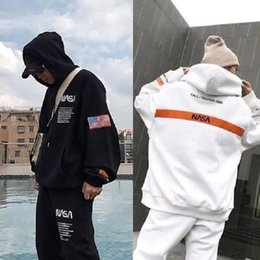 Wholesale long womans pullover for sale - Group buy streetwear Travis Scott Cotton NASA hoodies fashion letter printed Hoodie autumn winter Mans womans Pullover hip hop Sweatshirt hooded Hoody