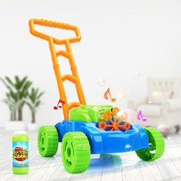 electric car toy baby NZ - Creative Pushing Car Automatic Bubble Machine Baby Kids Toy Gift Electric Bubble Gun Summer Outdoor Game 03