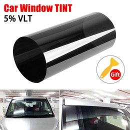 tints for cars 2020 - Solar Film for Car Windscreen Tinted In Black Clear Solar Film Anti-UV Sun Shade Car Accessories Protection 20x150CM che