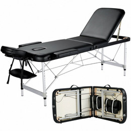 84''L Massage Table 3 Fold Adjustable Portable Aluminium SPA Beauty Bed Tattoo gW0S#