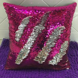 sequin home decor 2020 - Sequin Pillow Case Cover Glamour Square Pillow Case Cushion Cover Home Sofa Car Decor Mermaid Pillow Covers Without Core